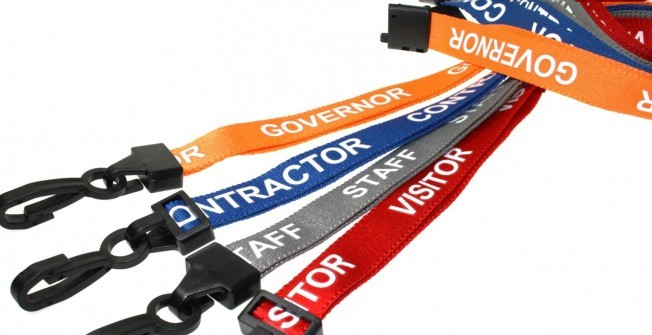 Staff Lanyards with Retractable Clips in Ansells End
