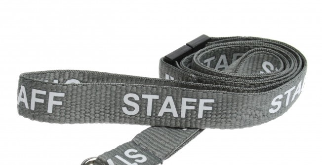 Staff Printed Lanyards in Aber-Gi